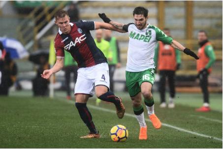 Hasil Liga Inggris: Sassuolo vs Bologna 2-2