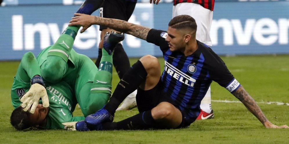Hasil Akhir Pertandingan Inter Milan vs AC Milan 1-0.