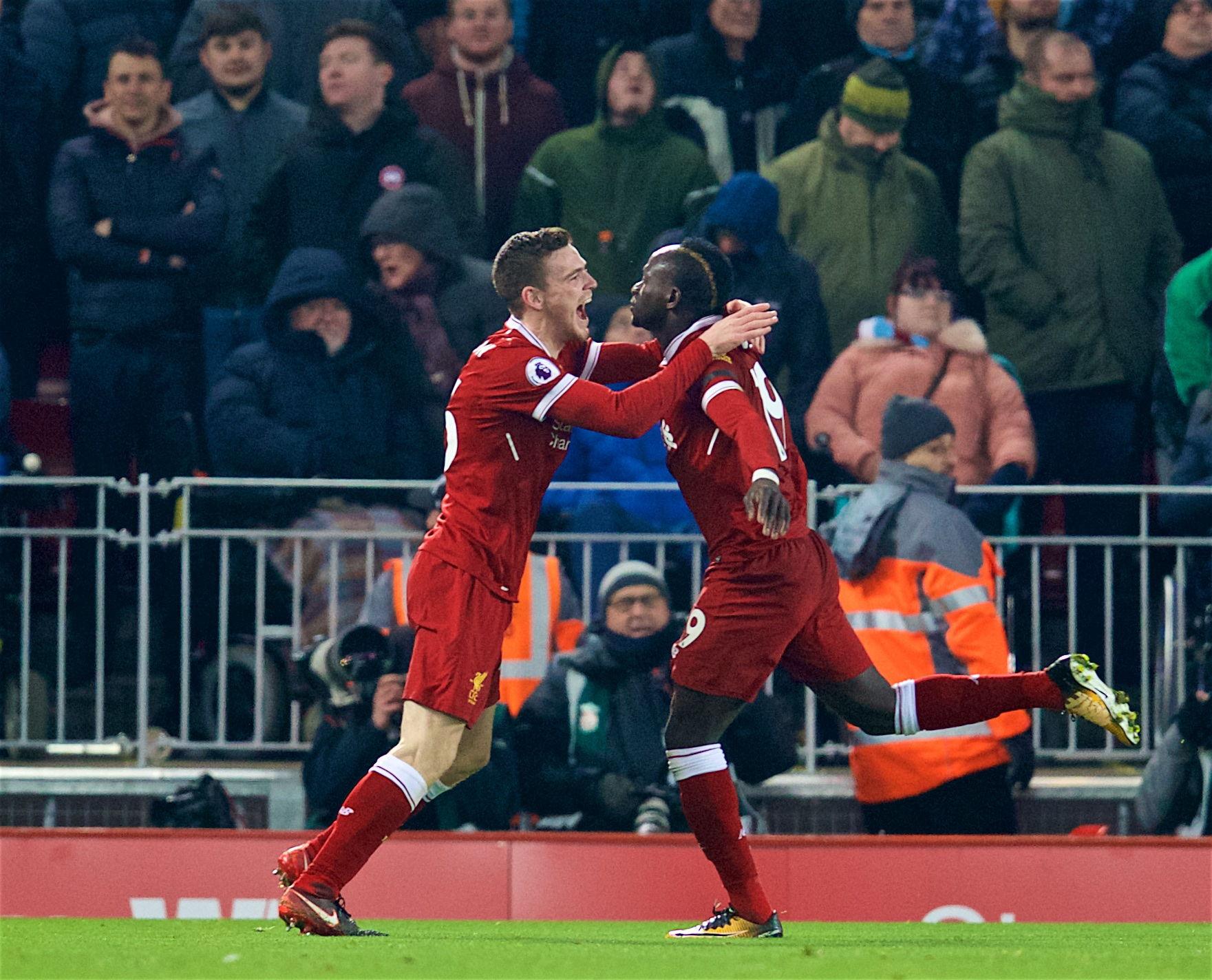 Liverpool Akan Nilai Kebugaran Mane Dan Andy Robertson