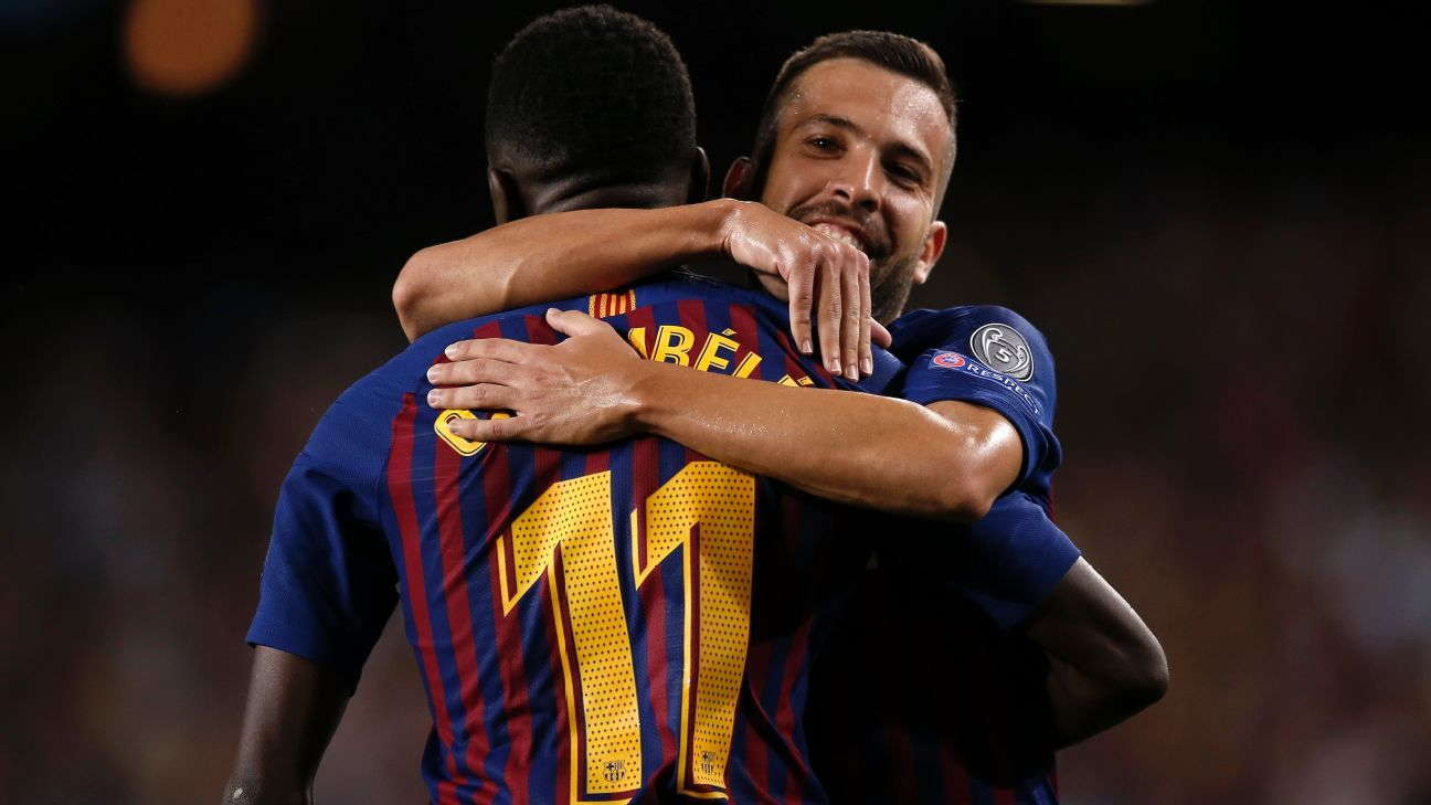 Jordi Alba : Seluruh Pemain Senang Dengan Dembele