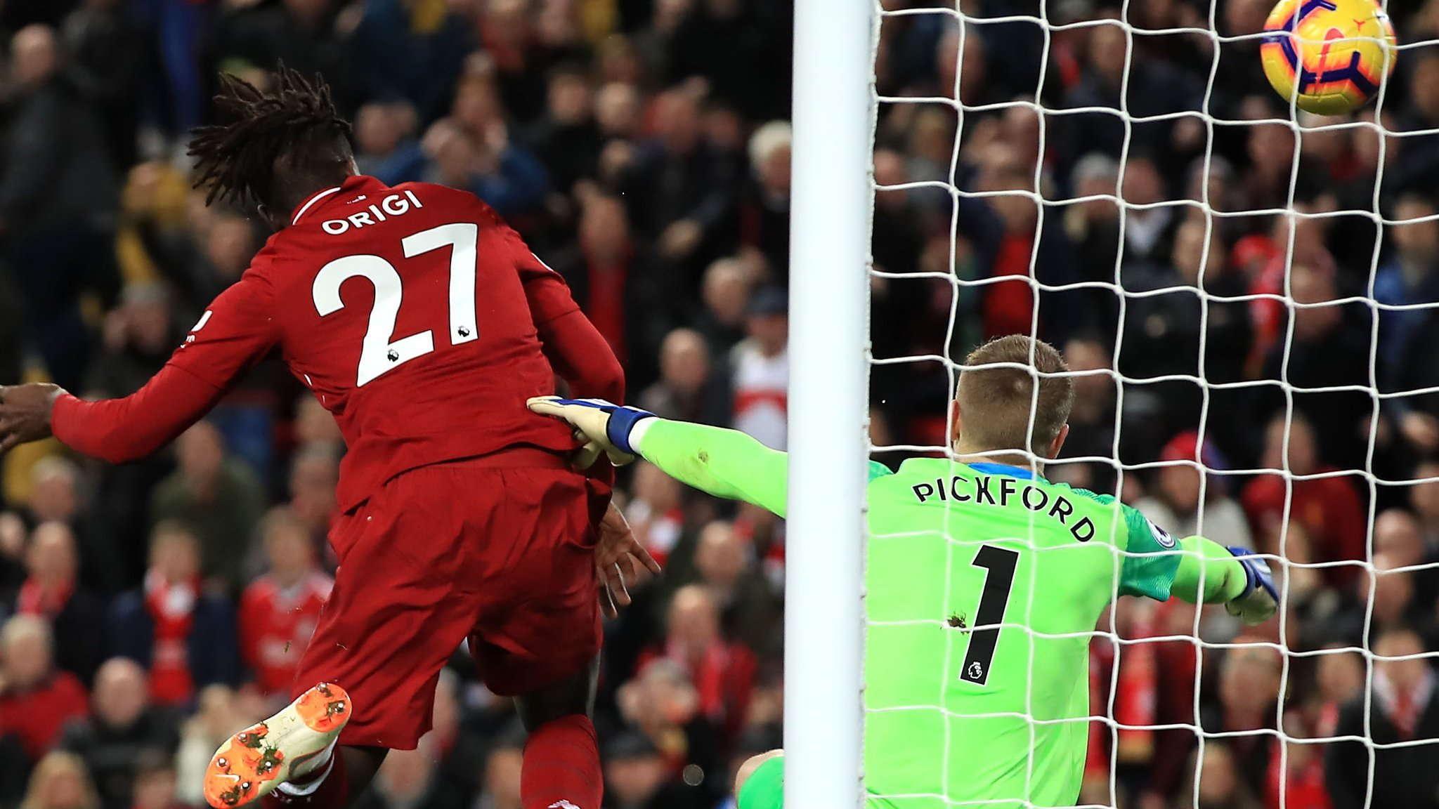 Liverpool 1-0 Everton : Pickford Melakukan Kesalahan Fatal