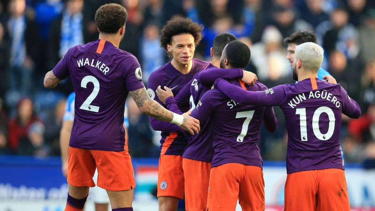 Manchester City Mencapai 100 Gol Di Musim 2018/19