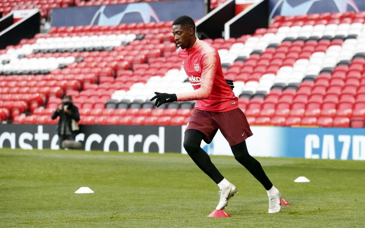 Dembele Dapat Tampil Hadapi Manchester United