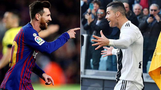 C Ronaldo Dengan L Messi