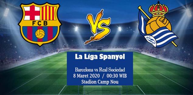 Prediksi Skor Barcelona Vs Real Sociedad