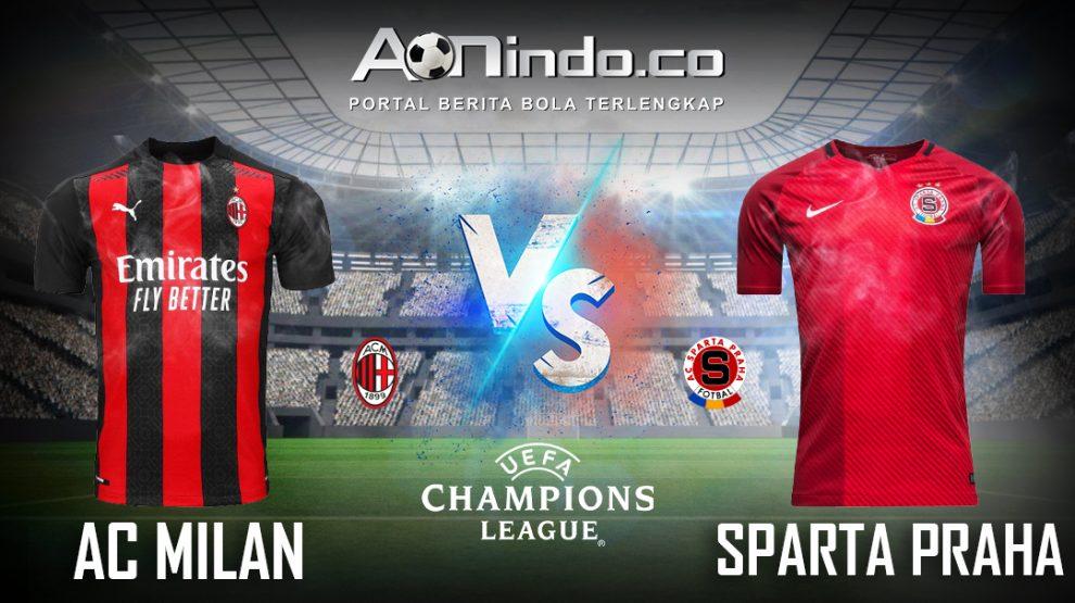 Prediksi Skor AC Milan vs Sparta Praha
