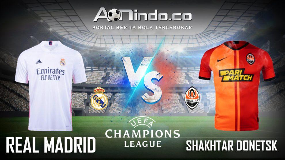 Prediksi Skor Real Madrid vs Shakhtar Donetsk